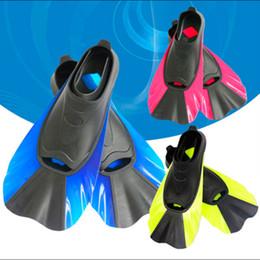 Wholesale swimming fins snorkeling - Swimming Fins Snorkeling Foot Flipper Diving Fins Beginner Equipment Portable Short Frog shoes