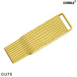 Con paquete de papel para CUSIGLE CU75 Oro Plata 16GB 32GB 64GB Interfaz portátil 2.0 Metal USB Flash Drive desde fabricantes