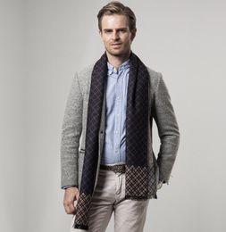 Wholesale Male Cashmere Scarf - Top Quality Cashmere Winter Mens Scarf 2018 Stripe Designer Soft Man Scarf Vintage Super Warm Male Women Scarves 180x30