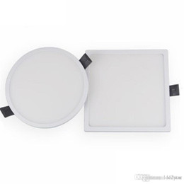 Wholesale led round flat panel light - NEW Flat LED Panel light Super thin recessed Downlight Square Round for home Kitchen 30W 22W 16W 8W integrated driver Free Ship