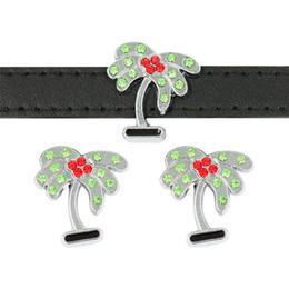 i segnalibri placcati argento all'ingrosso Sconti Nuovo Arrivo 10mm Coconut Tree Charms Diapositiva Fit 10mm Wristband BraceletPet Collare DIY Diapositiva Fascini Monili Che Fanno SL539