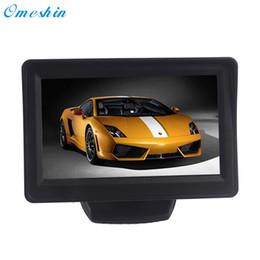 зеркало заднего вида hd Скидка Hot!2017 Popular 4.3Inch Car TFT LCD Monitor Mirror + Reverse Rear View Backup CMOS Camera high quality AU16a