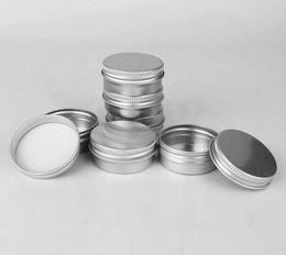 Vendita calda barattolo di alluminio cosmetico da 500 * 15 g barattolo di metallo da 15 ml per contenitori di imballaggio per crema da perline all'ingrosso smerigliate fornitori