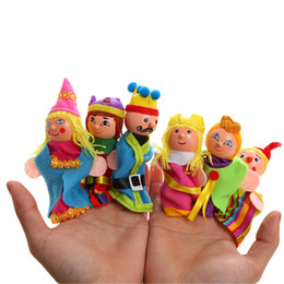 Wholesale Fairy Stories - Wholesale- Surwish 6Pcs Fairy Tale Castle Series Lovey Finger Puppet for Story Talking