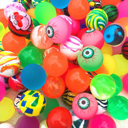 10pcs 27mm Bouncy Balls Colorful Jet Ball Birthday Party Loot Bag giocattolo Filler Palle di gomma per bambini Bambini Bomboniere da