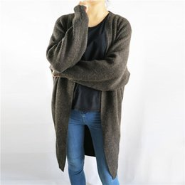 Wholesale Women Oversized Batwing Cardigan Sweaters - Wholesale- 2017 Winter Brand Cashmere Sweaters Oversized Women Cardigans Korean Coats Pull Femme Christmas Sweater Long Cardigan Casual 121