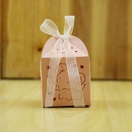шоколадные украшения для душа для детей Скидка мультфильм слон коробка конфет baby shower сувениры день рождения украшения шоколад коробка подарки для гостей ZA6010