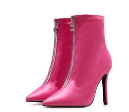 Großhandel Hot Fashion Damen Stiefeletten Mädchen Süße Faux Wildleder Runde Zehen Keilabsatz Schuhe B728 Schwarz Rosa Beige Grau Braun Von