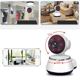 2019 cámaras de control de sonido 720P Cámara IP WiFi Smart Home Cámara de vigilancia inalámbrica Pan Tilt CCTV Network Seguridad para el hogar Cámara IP IR Visión nocturna