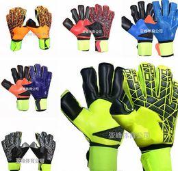Wholesale viscose twill - Brand AD Logo Professional Soccer Goalkeeper Gloves New Best quality Finger Ptotection Top Latex football Goalie Gloves for Men 5MM Latex