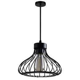 luces de techo para tiendas Rebajas YUNLIGHTS Lámpara colgante de techo de metal para decoración de cafetería y cafetería (22cm negro excluyendo la bombilla)