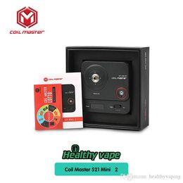 Medidor de ohmios para vape online-Original Coil Master 521 Tab Mini 2 Actualizado 521 Mini para Coil Master Kit de bricolaje Vape Mod Ohm Meter Table