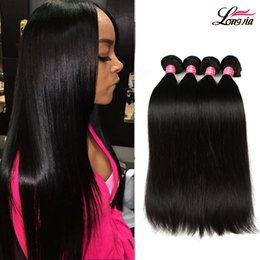 Wholesale Color Extensions - 8A Brazilian Straight Hair 100% Brazilian Virgin Straight Human Hair 3 or 4 Bundles Unprocessed Peruvian Malaysian Straight Hair Extension