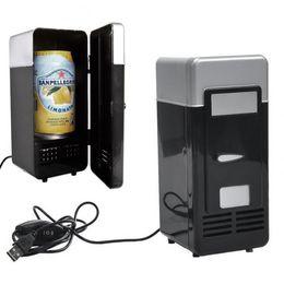 Argentina Nueva Portable Mini USB Refrigerador Refrigerador Bebida Bebidas Cans Cooler / Warmer Refrigerador para Laptop / PC QJY99 Suministro