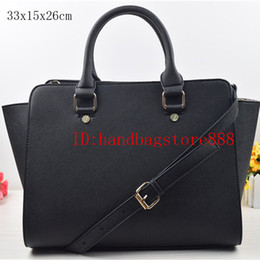 Wholesale Women Big Bags - Free shipping women famous brand MICHAEL KALLY handbags selma luxury designer shoulder tote bags purse PU leather summer beach bag big size