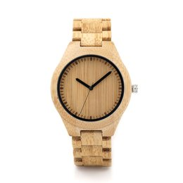 Wholesale Bamboo Bird - wooden watch men BOBO BIRD V-G27 Bamboo Wooden Watches Men Handmade Classic Quartz Wristwatch Wood Leather Strap Available