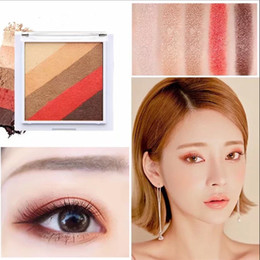 Wholesale Rainbow Wear - 2018 new novo a glimpse of the rainbow 5 color eye shadow sunset dish girl series Maple Leaf milk brown eyeshadow support wholesale