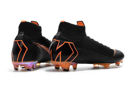 Wholesale Girls Youth Boots - Original High Ankle Football Boots Youth Kids Boys Girls Mercurial Superfly VI 360 Elite FG Soccer Shoes Men Women ACC Outdoor Soccer Cleats