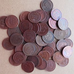 53PCS / lot 1859 - 1909 Indian Head Petits Cents (dates et mentions de frappe variées) Pièce de monnaie en cuivre non monnaies ? partir de fabricateur