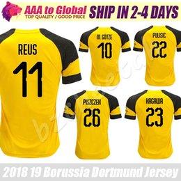 7b0ff8e9bdff9 dortmund home Desconto Reus Jersey 2019 Casa Gelbes Trikot Borussia Dortmund  Piszczek Gotze Pulisic Kagawa camisa