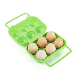 Canada Plateau à œufs en plastique pour 6 œufs - Portable en plein air Camping Picnic BBQ Egg Holder Rack Container Storage Box supplier egg box plastic Offre