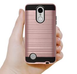 Wholesale Customize Opp Bag - For LG Aristo 2 Stylo 3 K20 Plus V30 V20 G6 Hybrid Cover Case Brushed Verus Design Dual Layered Protective Case with opp bag