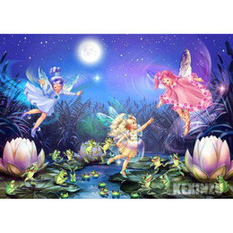 Wholesale picture full moon - KEXINZU DIY Diamond Painting Cross Stitch pictures Home decoration full square Round Diamond Embroidery Angle Moon painting rhinestones