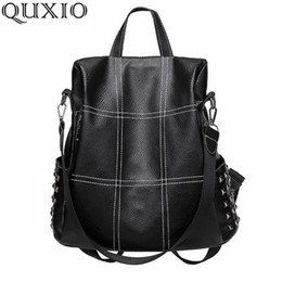LJL Ms Korean Fashion Personality Wild Female Bag New Tide Small Backpack PU Soft Leather Handbag