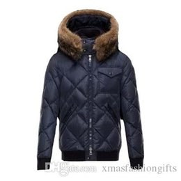 a2bb087cc532 Fashion Winter Down Jacket Men Warm Brand Designer Thick Hooded Jackets for  Man Cool Anorak Real Racoon Fur Parkas Outwear Coats Online