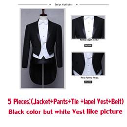 Wholesale Men Evening Suit Pants - wuzhiyi Classic Design MenTail Wedding Suit Groom Tuxedo Evening Custom made 4pieces Blazer(Jacket+Pants+Belt+Tie) Gentleman