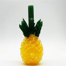 Vidro de alta temperatura on-line-Tubulação de mão de abacaxi colorido engraçado cachimbo de água de vidro tubulações borbulhador pyrex alta temperatura acessórios de fumar narguilé
