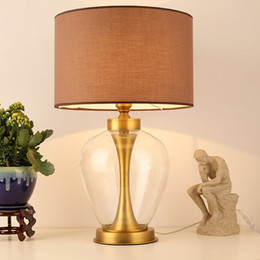 Wholesale Glass Dyes - TUDA 37X60cm Free Shipping LED Table Lamps Simple Modern Bedroom Bedside Lamp Creative Fashion Decoration Table Lamp E27