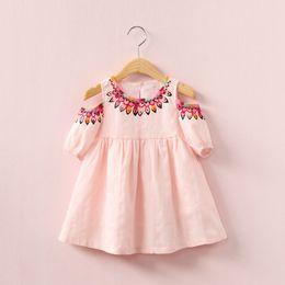 274f23d0938 Baby Clothes Girls Dresses Summer Vintage Print Strapless Skirt Fashion  Children European Style Kids Clothing Boutique
