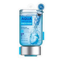 co2 hautbehandlung Rabatt Korea Kosmetik TOSOWOONG Aqua Tok Tok CO2 Maske 5 stücke Gesichtsmaske Feuchtigkeitsspendende Mitesser Behandlung Hautpflege Gesichtsmaske