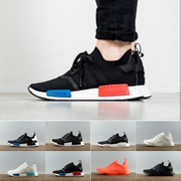 Wholesale Nice Free Shoes - nice NMD R1 r1 Running Shoes Men Women Nmd Athletic Shoes new good best Unisex Sports Sneakers all season fit free shipping