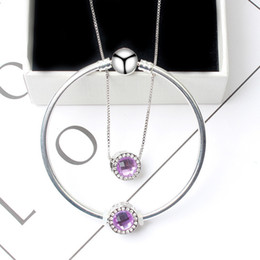 Ensemble de cadeau de collier de femmes ensemble simple alliage de pierres précieuses Lucky Bead ensembles de bijoux de mode pour anniversaire de petites amies ? partir de fabricateur