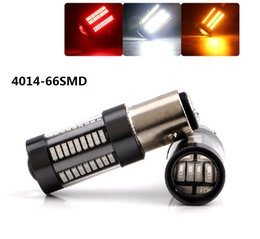 Wholesale 1156 canbus led - Car Tail Light 1156 3157 LED Canbus BA15S P21W BAU15S PY21W S25 4014 66 SMD Auto Brake Reverse Lamp DRL Rear Parking Bulbs