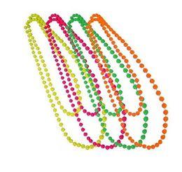 2019 phantasie armbänder Disco Neon 80er Jahre 70er Jahre Party Dance Kostüm Perlen lange Halskette Armband Abendkleid Hen Night Prom Prom Props 4 in 1 günstig phantasie armbänder