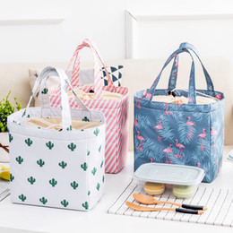Wholesale garage cooling - Lady Lunch Bag Insulated Reusable Lunch Tote Organizer Cooler Bag Drawstring Lunch Handbag Box Foldable Large Capacity for Woman Girl