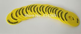 Wholesale 16mm Switch - 100pcs 16mm Emergency Stop Switch Plastic Sign Warning Ring Pushbutton Switch Panel Label Frame