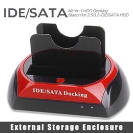 """2019 sata disco rígido caso usb 2.5 """"3.5"""" 2 SATA 1 IDE HDD Unidade de Disco Rígido gêmeo Docking Station HUB USB Leitor Externo HDD Gabinete Frete Grátis 409"""