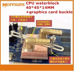 Wholesale Ram Graphics - Free ship 1152 micro channel copper column Pure copper CPU waterblock 40*45*14MM water-cooled+graphics card buckle