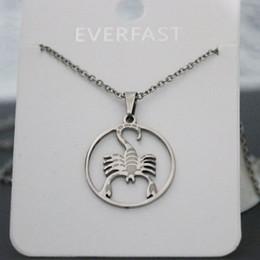 Everfast 1 adet Punk Scorpion Kolye Kolye Paslanmaz Çelik Takılar Böcek Kolye Kadınlar Bellek Takı cheap scorpion charms nereden akrep takılar tedarikçiler