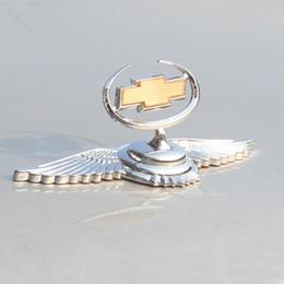 Металлические украшения автомобиля 3D эмблема автомобиля знак авто передний капот капот наклейка для Chevrolet от Поставщики палка в любом месте