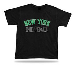Rotes weißes blaues kleid online-New York FOOTBALL-T-Shirt T-Stück NY-Stadionkleid roter blauer blauer Artentwurf USA