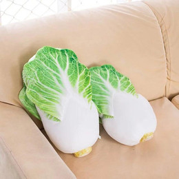 Wholesale vegetable toys - Creative Chinese cabbage Plush Toys At home decoration Vegetable Cloth doll Christmas present Soft pillow kids toys baby gift