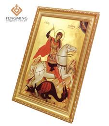 pinturas religiosas Rebajas Accesorios religiosos Artesanía de plástico Marcos de fotos San Jorge Pinturas Iglesia ortodoxa griega Icono Regalos bizantinos Arte cristiano