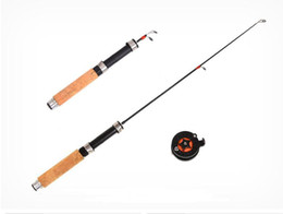 Kit pesce volare online-all'ingrosso un set Strumenti di pesca a mosca Rod Spinning Wheel Ice Rod Combo Fishing Tackle Fly Fishings Reel Kit