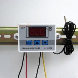 Wholesale Temperature Control Switch Thermostat - W3002 220V 12V 24V Digital Temperature Controller 10A Thermostat Control Switch Probe with waterproof sensor thermostatic