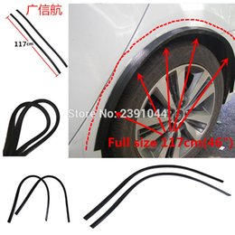 "Wholesale Fender Flares - wholesale 2pcs 46"" 117cm Carbon Fiber Style Fender Flares Universal Arch Wheel Eyebrows Protect Ant-Scratch for Mazda 3 Axela"